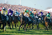 National Hunt Horse Racing - 2017 Randox Grand National Festival - Saturday, Day Three [Grand National Day]<br /> <br /> Davy Russell who finished 3rd on St Are in the foreground  after taking the water jump in the 5.15, the Randox Health Grand National  at Aintree Racecourse.<br /> <br /> COLORSPORT/WINSTON BYNORTH<br /> <br /> <br /> <br /> <br /> <br /> <br /> <br /> <br /> <br /> <br /> National Hunt Horse Racing - 2017 Randox Grand National Festival - Saturday, Day Three [Grand National Day]<br /> <br />  in the 1st race the 1.45 Gaskells Handicap Hurdle at Aintree Racecourse.<br /> <br /> COLORSPORT/WINSTON BYNORTH