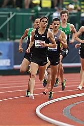 Olympic Trials Eugene 2012: men's 1500 meter final, Matthew Centrowitz leads Men's 1500 meter final, Matthew Centrowitz