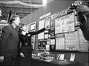 06/01/1978.01/06/1978.6th January 1978.The Aer Lingus Young Scientist of the Year Exhibition at the RDS, Dublin. ..Mary O'Hara, of St. Louis High School, Rathmines, Dublin showing her project exhibit Home Hygiene to the Minister for Health and Social Welfare, Mr. Charles Haughey, T.D. The Minister is currently running a National Hygiene Campaign with the slogan, 'Clean Up- Fight Infection' and Mary's project was one of the award winners.
