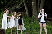 """Performance of """"Hamlet"""" by the Chelsea Funnery in Tunbridge, Vt., on July 21-22, 2017. Profits from print and download sales to benefit the Funnery Scholarship Fund. (Photo by Geoff Hansen)"""