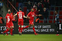 February 11, 2018 - France - Christian Luyindama midfielder of Standard Liege scores and celebrates (Credit Image: © Panoramic via ZUMA Press)