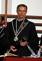 "20090323: LISBON, PORTUGAL – Portuguese coach Jose Mourinho honored with degree ""honoris causa"" by the Technical University of Lisbon (Universidade Tecnica Lisboa), where he majored in sports science. In picture: Jose Mourinho. PHOTO: Alvaro Isidoro/CITYFILES"