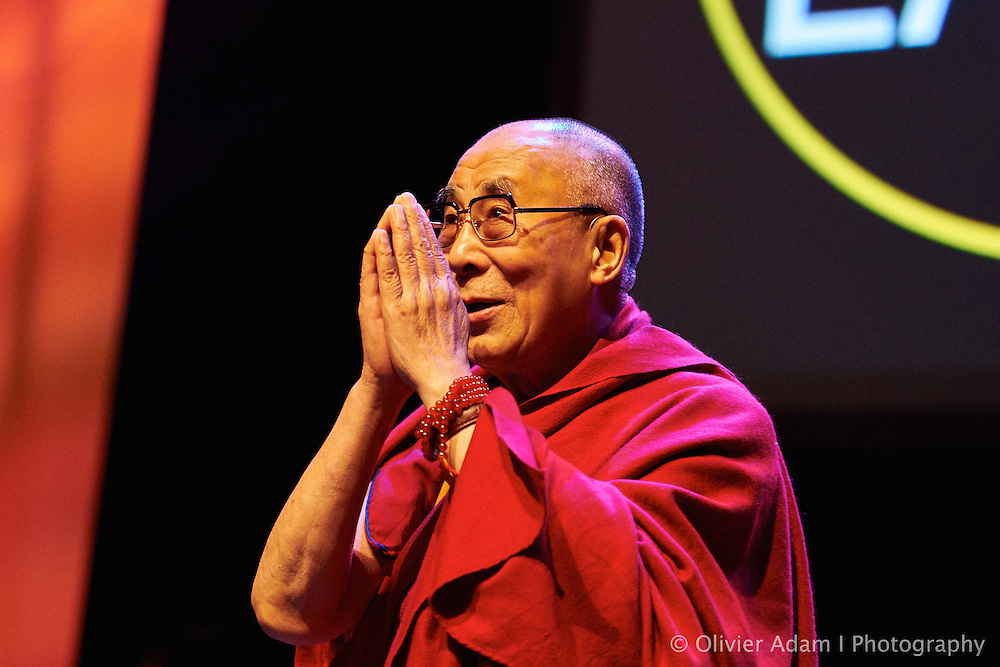 Before conference on the theme of how to live compassion in our daily life. Dalai Lama