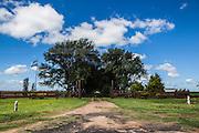 2015/03/04 – Monte Maiz, Argentina: Entrance of Manuelita farm, which has 1300 hectares dedicated to the soy plantation. (Eduardo Leal)