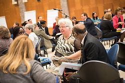 20 September 2017, Geneva, Switzerland: World Council of Churches staff gather for the annual Staff Enrichment Days. Here, Clare Amos in a group discussion.