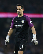Claudio Bravo of Manchester City during the English Premier League match at the Etihad Stadium, Manchester. Picture date: December 18th, 2016. Picture credit should read: Simon Bellis/Sportimage