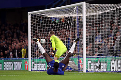 Chelsea's Antonio Rudiger scores his side's first goal of the game