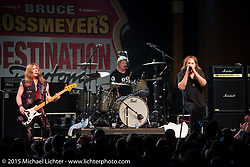 Dokken headlines a free Saturday night concert lineup at Destination Daytona Harley-Davidson during Daytona Beach Bike Week 2015. FL, USA. March 14, 2015.  Photography ©2015 Michael Lichter.