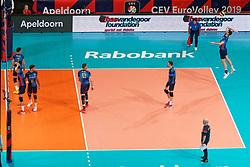 21-09-2019 NED: EC Volleyball 2019 Poland - Spain, Apeldoorn<br /> 1/8 final EC Volleyball / Team Spain, boarding bvdgf