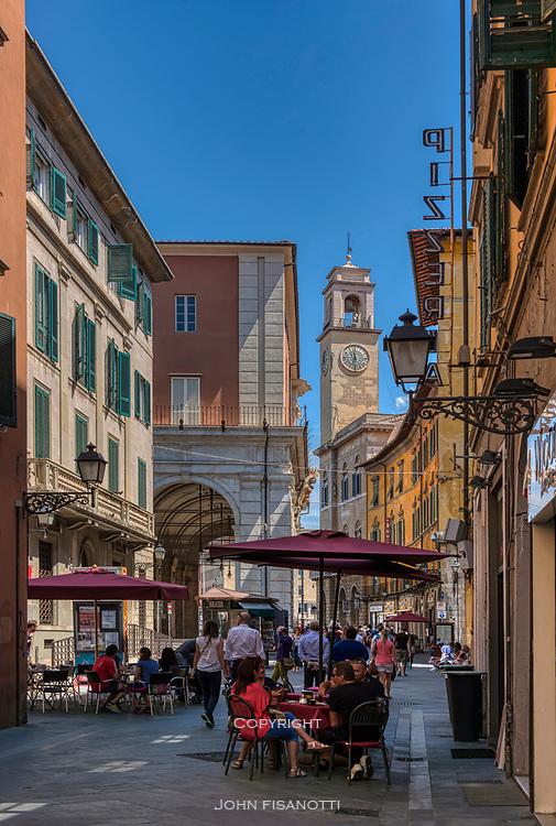 Street scene in Pisa, Italy