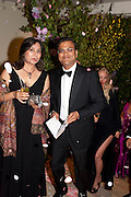 MR. AND MRS. SUDHIR MAHESHWARI, Triennial Summer Ball, Royal Academy. Piccadilly. London. 20 June 2011. <br /> <br />  , -DO NOT ARCHIVE-© Copyright Photograph by Dafydd Jones. 248 Clapham Rd. London SW9 0PZ. Tel 0207 820 0771. www.dafjones.com.
