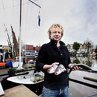 Nederland, Amsterdam , 30 oktober 2012.<br /> Bart van Olphen, oprichter van het duurzame vismerk Fishes. Tegenwoordig bewaakt hij het merk en het groene imago.<br /> Foto:Jean-Pierre Jans
