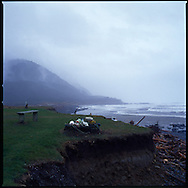 The Oregon Coast directly in front of the Seaquest Inn B&B