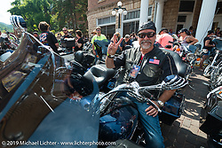 Staging of the Legends Ride in Deadwood, SD during the Sturgis Black Hills Motorcycle Rally. SD, USA. August 4, 2014.  Photography ©2014 Michael Lichter.