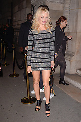 Pamela Anderson attending L'Oreal Paris X Balmain party at Ecole de Medecine during Paris Fashion Week Spring Summer 2018 held in Paris, France on September 28, 2017. Photo by Julien Reynaud/APS-Medias/ABACAPRESS.COM