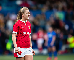 Hannah Jones of Wales<br /> <br /> Photographer Simon King/Replay Images<br /> <br /> Six Nations Round 1 - Wales Women v Italy Women - Saturday 2nd February 2020 - Cardiff Arms Park - Cardiff<br /> <br /> World Copyright © Replay Images . All rights reserved. info@replayimages.co.uk - http://replayimages.co.uk