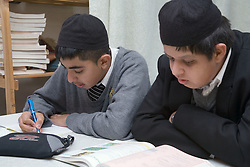 Boys in a lesson at the Nottingham Islamia school,
