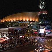 Bridgestone Arena and The Nashville Visitor Information Center are seen in downtown Nashville, Tennessee on Friday, November 13, 2015. (Alex Menendez via AP)