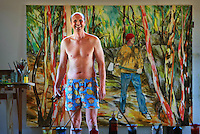 Mitch Macauley formerly Mitch Dowd the boxer short king, now tree change and painter, he changed his name to avoid the stigma of the boxer shorts preventing him being taken seriously as an artist  .Pic By Craig Sillitoe  18/06/2008 SPECIALX 000 melbourne photographers, commercial photographers, industrial photographers, corporate photographer, architectural photographers, This photograph can be used for non commercial uses with attribution. Credit: Craig Sillitoe Photography / http://www.csillitoe.com<br /> <br /> It is protected under the Creative Commons Attribution-NonCommercial-ShareAlike 4.0 International License. To view a copy of this license, visit http://creativecommons.org/licenses/by-nc-sa/4.0/.
