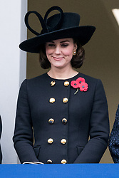 © Licensed to London News Pictures. 12/11/2017. London, UK.CATHERINE DUCHESS OF CAMBRIDGE attends a Remembrance Day Ceremony at the Cenotaph war memorial in London, United Kingdom, on November 13, 2016 . Thousands of people honour the war dead by gathering at the iconic memorial to lay wreaths and observe two minutes silence. Photo credit: Ray Tang/LNP