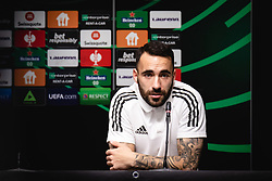 Mitja Lotric of NS Mura  during press conference after football match between NS Mura and Rennes (FRA) in group stage of UEFA Europa Conference League 2021/22, on 20 of October, 2021 in Ljudski Vrt, Maribor, Slovenia. Photo by Blaž Weindorfer / Sportida