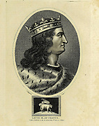 Louis IX of France Louis IX (25 April 1214 – 25 August 1270), commonly known as Saint Louis or Louis the Saint, was king of France from 1226 to 1270. Louis was crowned in Reims at the age of 12, following the death of his father Louis VIII; Louis IX led the Seventh and Eighth crusades against the Ayyubids, Bahriyya Mamluks and Hafsid Kingdom. He was captured in the first and ransomed, and he died from dysentery during the latter. He was succeeded by his son Philip III. Copperplate engraving From the Encyclopaedia Londinensis or, Universal dictionary of arts, sciences, and literature; Volume VII;  Edited by Wilkes, John. Published in London in 1810