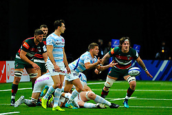 December 9, 2018 - Nanterre, Hauts de Seine, France - Racing 92 scrum half ANTOINE GIBERT in action during the rugby Champions Cup Day 3 between Racing 92 and Leicester at U Arena Stadium in Nanterre - France..Racing 92 Won 36-26. (Credit Image: © Pierre Stevenin/ZUMA Wire)