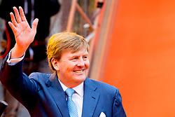 King Willem Alexander attending King's Day Celebrations in Groningen, Netherlands, on April 27, 2018. Photo by Robin Utrecht/ABACAPRESS.COM