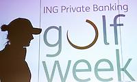 BADHOEVEDORP - Silhouet van Anne van Dam. Van 20 t/m 22 mei zal op de International Golfcourse de ING Private Banking Golf Week voor het eerst gehouden worden.  COPYRIGHT KOEN SUYK