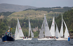 Sailing - SCOTLAND  - 27th May 2018<br /> <br /> DAY 3 Racing the Scottish Series 2018, organised by the  Clyde Cruising Club, with racing on Loch Fyne from 25th-28th May 2018<br /> <br /> Sigma 33 Fleet Start, Runa<br /> <br /> Credit : Marc Turner<br /> <br /> Event is supported by Helly Hansen, Luddon, Silvers Marine, Tunnocks, Hempel and Argyll & Bute Council along with Bowmore, The Botanist and The Botanist
