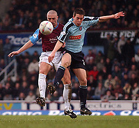 PICTURE BY DANIEL HAMBURY/SPORTSBEAT IMAGES<br />Nationwide Football League Division One    6/3/04<br /><br />West Ham United V Walsall<br /><br />West Ham United's Tomas Repka and Walsall's Kris Taylor
