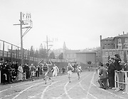 """""""track meet Portland 1916"""" (at Multnomah field. Note MAAC building in background)"""