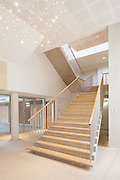 Lobby. Pembroke College New Build on completion March 2013. Oxford, UK