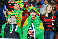 Brazil fans during the Friendly International match between Brazil and Uruguay at the Emirates Stadium, London, England on 16 November 2018.