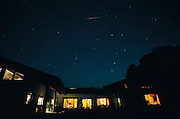 Meteor shower over Menzel residence, Napa Valley, California.