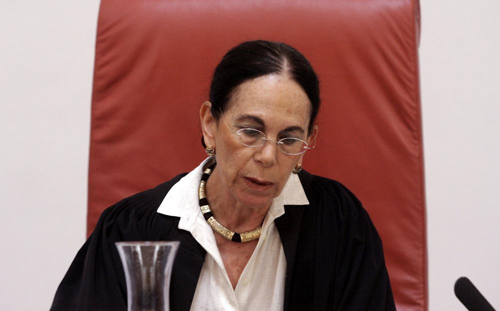 Israeli Supreme Court Justice Ayala Procaccia, is seen at the Israeli Supreme Court in Jerusalem, on September 28, 2008.