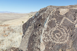 Pictographs, Ladder Ranch, west of Truth or Consequences, New Mexico, USA.