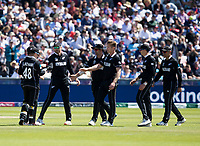 Cricket - 2019 ICC Cricket World Cup - Group Stage: England vs. NZ<br /> <br /> Kane Williamson of New Zealand catches from Jimmy Neesham of New Zealand to put out Chris Woakes of England, at the Riverside, Chester-le-Street, Durham.<br /> <br /> COLORSPORT/BRUCE WHITE
