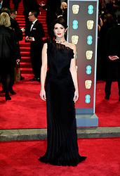 Gemma Arterton attending the EE British Academy Film Awards held at the Royal Albert Hall, Kensington Gore, Kensington, London.
