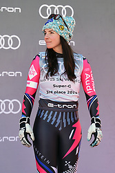 March 14, 2019 - ANDORRA - Tina Weirather (LIE) in Podium Ladies Super Giant of Audi FIS Ski World Cup Finals 18/19 on March 14, 2019 in Grandvalira Soldeu/El Tarter, Andorra. (Credit Image: © AFP7 via ZUMA Wire)