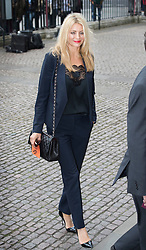 © Licensed to London News Pictures. 27/09/2016.  Tess Daley arrives for a Service of Thanksgiving for the Life and Work of Sir Terry Wogan at Westminster Abbey. Veteran broadcaster Sir Terry Wogan died in January 2016. The Irish star had a long and successful career at the BBC, including stints on  radio and TV. London, UK. Photo credit: Peter Macdiarmid/LNP