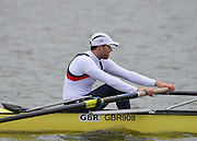 Caversham, Great Britain,  GBR M8+, Dan RITCHIE.  GB Rowing media day at the Redgrave Pinsent Rowing Lake. GB Rowing Training centre. Wednesday  27/02/2013    [Mandatory Credit. Peter Spurrier/Intersport Images]