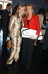 Left to right, JO MALONE and LOUISE KENNEDY at a fashion show with designs by Irish designer Louise Kennedy held in the Blue Bar, Berkeley Hotel, London on 12th May 2005.<br /><br />NON EXCLUSIVE - WORLD RIGHTS