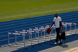 An athlete at warming up area at 12th IAAF World Championships in Athletics Berlin 2009, on August 14, 2009, in Berlin, Germany. (Photo by Vid Ponikvar / Sportida)