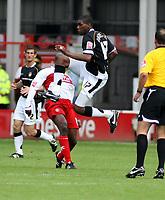 Photo: Mark Stephenson.<br /> Walsall v Port Vale. Coca Cola League 1. 08/09/2007.Port Vale's Craig Rocastle cleares the ball