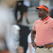 ORLANDO, FL - AUGUST 29: Head coach Willie Simmons of the Florida A&M Rattlers is seen during a NCAA football game between the Florida A&M Rattlers and the UCF Knights on August 29 2019 in Orlando, Florida. (Photo by Alex Menendez/Getty Images) *** Local Caption *** Willie Simmons