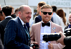 Gary Barker (right) during Grand National Day of the 2018 Randox Health Grand National Festival at Aintree Racecourse, Liverpool.