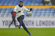 Crystal Palace defender Patrick van Aanholt (3) warming up prior to the Premier League match between Crystal Palace and Wolverhampton Wanderers at Selhurst Park, London, England on 30 January 2021.