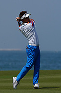 Taehee Lee (KOR) on the 9th during Round 3 of the Oman Open 2020 at the Al Mouj Golf Club, Muscat, Oman . 29/02/2020<br /> Picture: Golffile | Thos Caffrey<br /> <br /> <br /> All photo usage must carry mandatory copyright credit (© Golffile | Thos Caffrey)