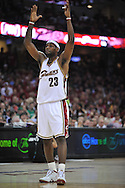 LeBron James of the Cleveland Cavaliers...The Cleveland Cavaliers defeated the Boston Celtics 108-84 in Game 3 of the Eastern Conference Semi-Finals at Quicken Loans Arena in Cleveland.